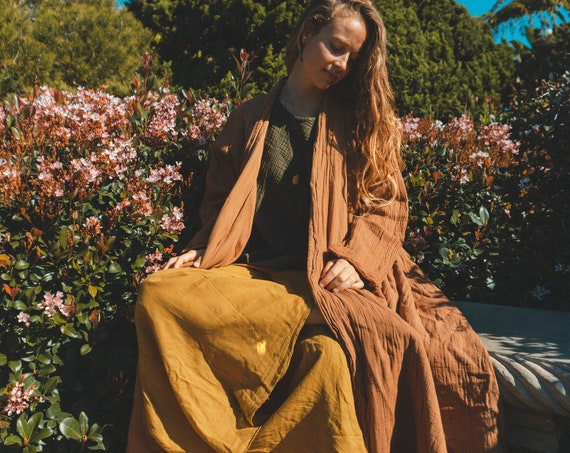 Cotton Robes in LIQUID AMBER // Duster Jacket // Cozy Robes for Warm Hearts