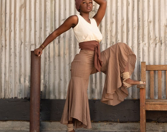 Gauze Bells in CHAI // 100% Cotton Gauze Breathable Yoga Dance Play Pants // Enjoy the feeling of your expression