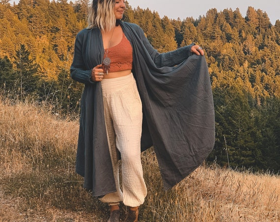 Cotton Cloak in SLATE //  Duster Jacket // Bohemian Ray, You are Glorious