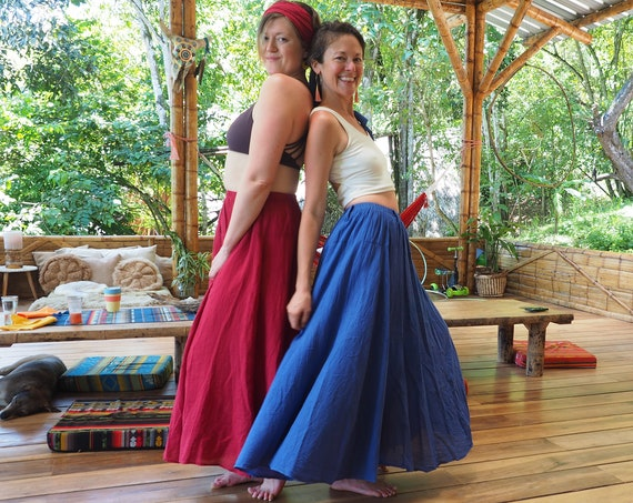 The Athena in GRECIAN BLUE // Gauze Cotton Skirt // Light, Flowy, Playfully Elegant Summer Skirt // You are a Gift!