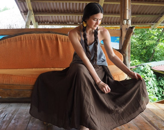 The Athena in COCOA // Gauze Cotton Skirt // Light, Flowy, Playfully Elegant Summer Skirt // You are a Gift!