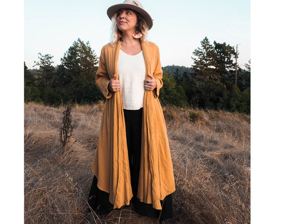 Cotton Robes in GOLD //  Duster Jacket // Bohemian Sunshine, You are Glorious