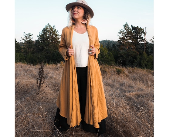 Cotton Cloak in GOLD //  Duster Jacket // Bohemian Sunshine, You are Glorious