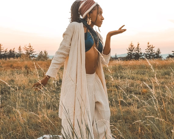 Cotton Cloak in CREME NATURAL // Duster Jacket // Bohemian Sunshine, You are Glorious