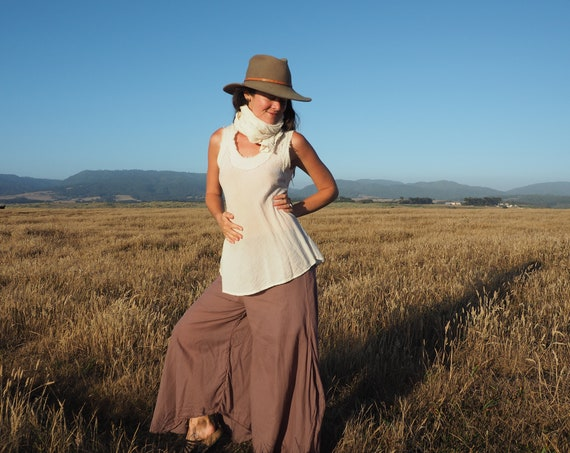 Cotton Flow Pants in DESERT ROSE // Partially Lined, Moisture Wicking, Yoga, Biking, Play! Flexible Waistband.