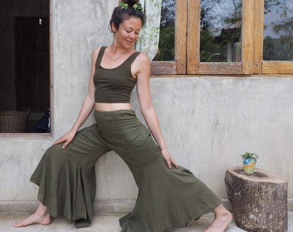 Gauze Bells // 100% Cotton Gauze Breathable Yoga Dance Play Pants // Enjoy the feeling of your expression
