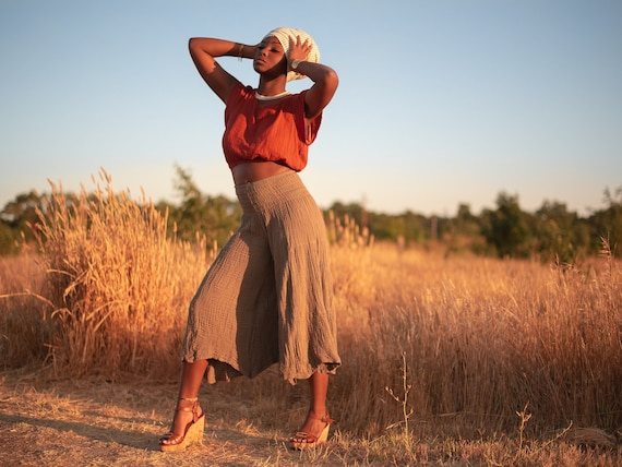 Spirit Pants in CHAI // Natural Cotton Yoga Dance Movement Bottoms // Sing, Soar, Float, Dance, Express your Divine Being