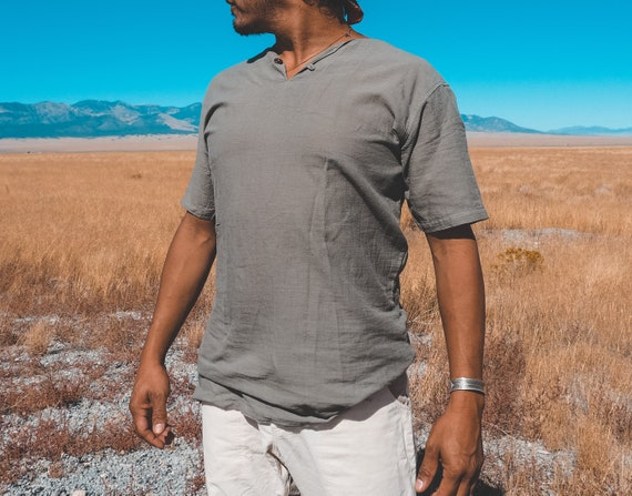 Gauze T in SLATE // Natural Weightless Cotton Freedom // Radiate Strength in Softness
