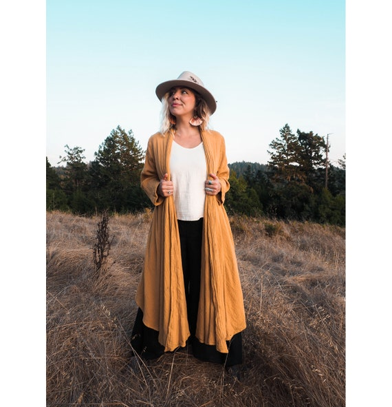 Cotton Cloak in GOLD // Duster Jacket // Classic Robes for Radiant Hearts
