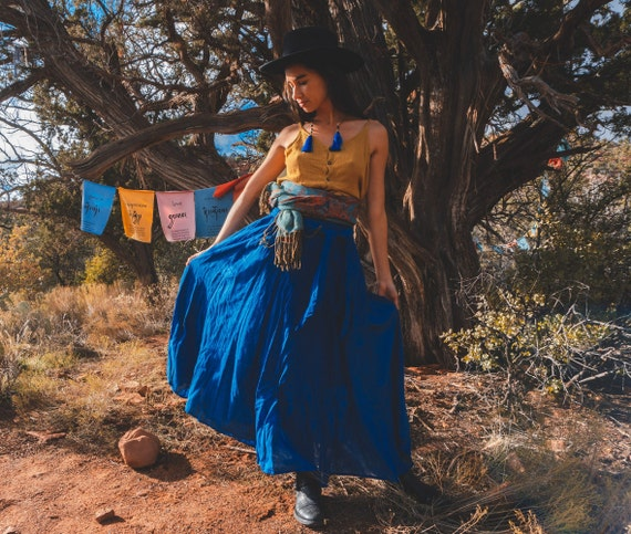 The Athena in LAPIS BLUE // Gauze Cotton Skirt // Light, Flowy, Playfully Elegant Skirt // You are a Gift!