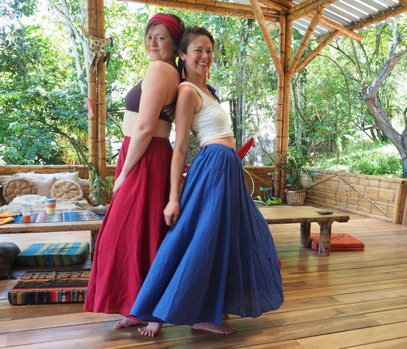 The Athena in LAPIS BLUE // Gauze Cotton Skirt // Light, Flowy, Playfully Elegant Summer Skirt // You are a Gift!