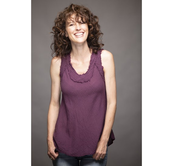 Gauze Tank in EGGPLANT // Breathable, Weightless, Natural Fiber