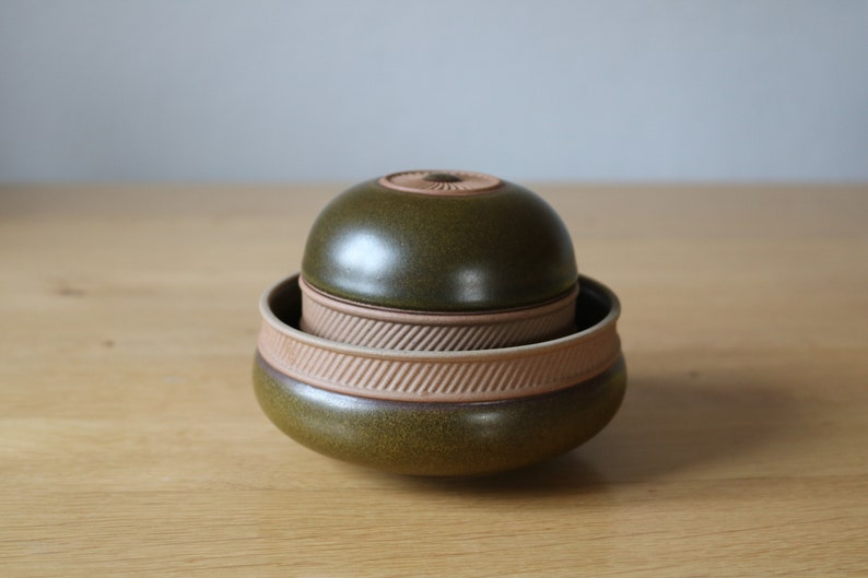 Rosenthal studio-line vintage 80s shapely small lid tin with relief d\u00e9cor