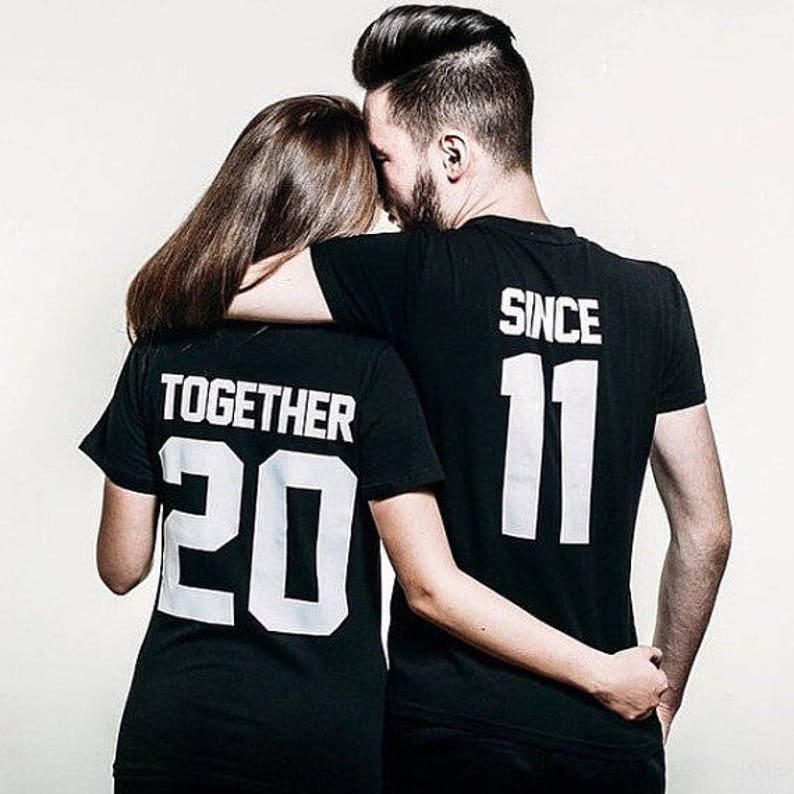 Together Since Shirts Couple T Shirt Tees