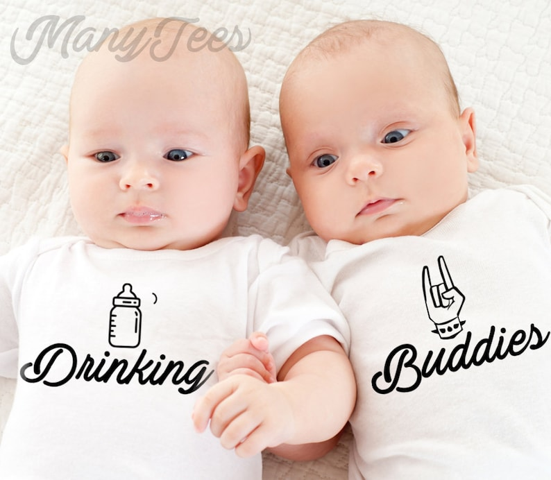 33519204983c9 Twins onesies twin onesies twins baby gifts twins outfits | Etsy