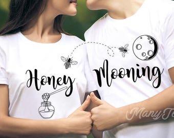 Honeymoon shirts couples shirts funny couples shirts wedding shirts just married shirts engagement gift wedding gift bride and groom shirts