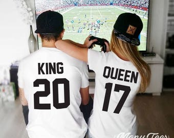 King and Queen shirts couple t shirt couple tees King Queen 01 couple tshirts  funny matching couple shirts wedding gift anniversary gift