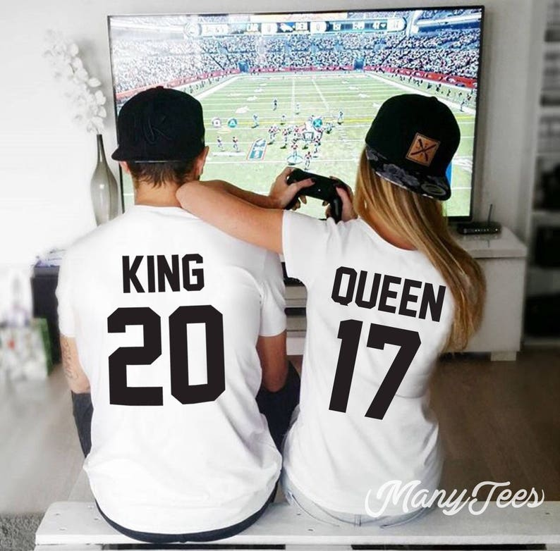 d210bf5201bb9 King y Queen camisetas pareja t camiseta pareja tees King