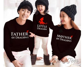 Game of thrones gift game of thrones mother of dragons sweatshirt father of dragons mother of dragons game of thrones christmas sweater baby