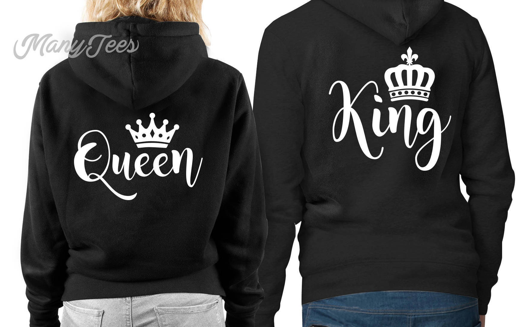 d89000b0aa1 King and queen hoodie king and queen sweatshirts king and
