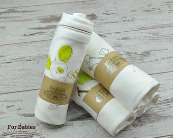 Summer Baby Blanket, Organic Baby Blanket, Baby Underwear, Baby Shower Gift,  Newborn Underwear