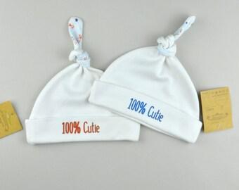 937d83421 Organic Cotton Hat Boy Hospital Hat With Ears Newborn Boy
