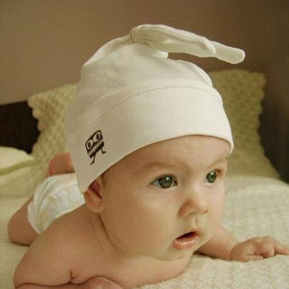 Organic Cotton Hat Boy Hospital Hat With Ears Newborn Boy  6561df38dc4