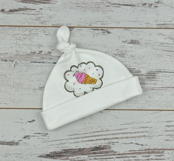 f9a917f5f Ice Cream Design Organic Baby Hat Newborn Gift Baby Beanie