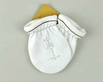 Organic Mittens, Newborn Baby Gloves, Baby Accessories, Baby Shower Gift, Birthday Party Gift, Toddler Mittens, Funny Gloves, Cotton Mittens