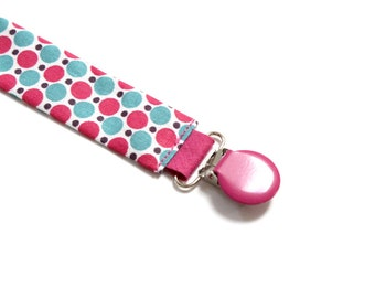 Pacifier baby pink and turquoise pop