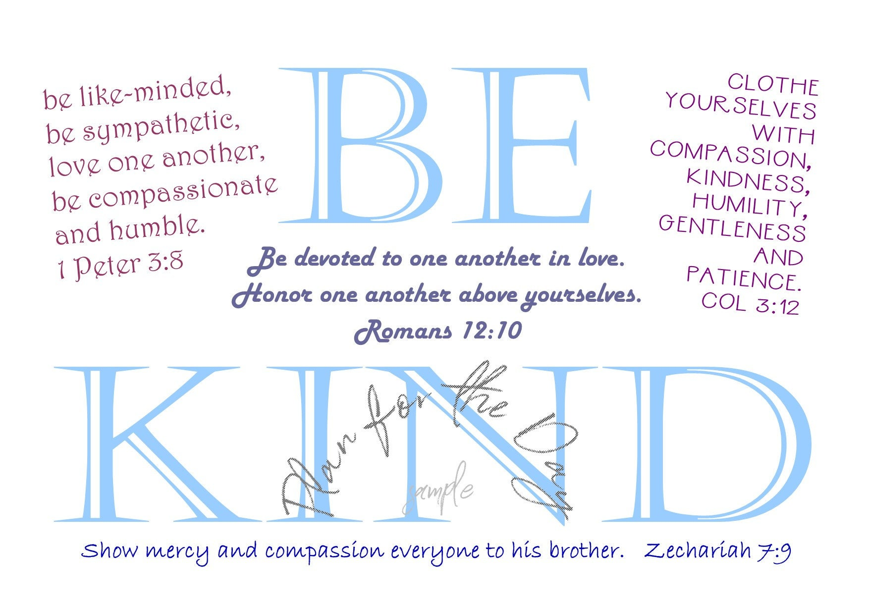 what does the bible say about showing kindness