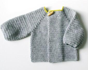 22 Crochet sweater pattern Sizes, 3 months, 6 months, 12 months, 18/24 months