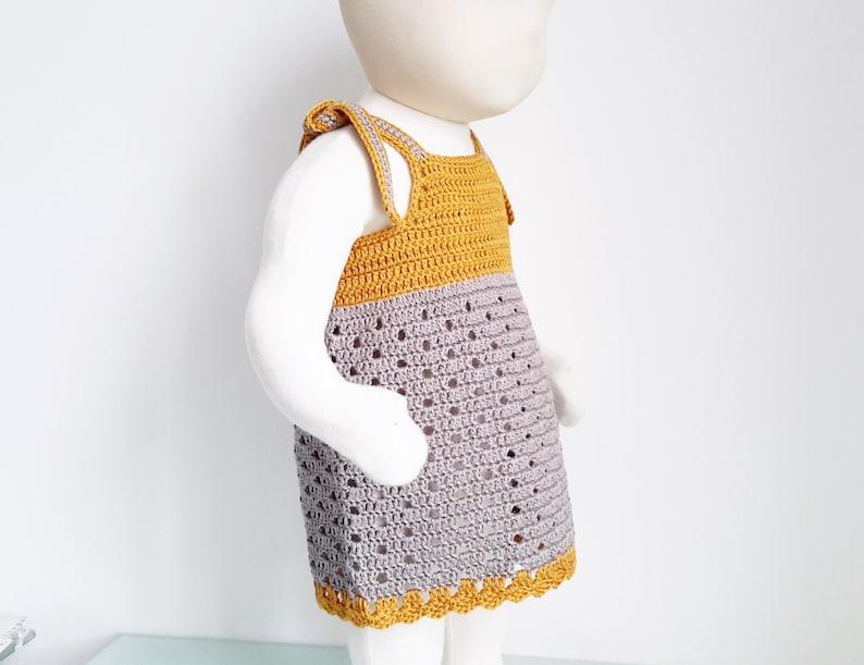 88d4643544f Crochet patron français robe été pdf crochet bébé fille