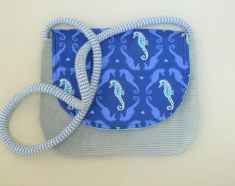 Blue girls shoulder bag