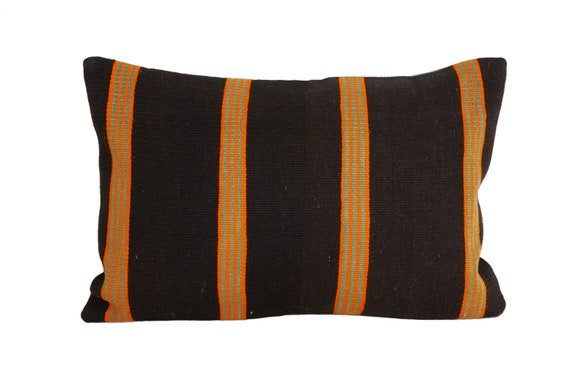 Vintage kilim pillow  red beige hues pillow  Turkish Anatolian kilim pillow  wool kilim throw pillow cover 16x16 in. green black
