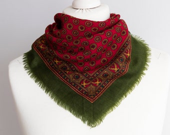 WOMENS LADIES WARM RUFFLED MULTI-COLOURED RED SCARF WINTER GIFT