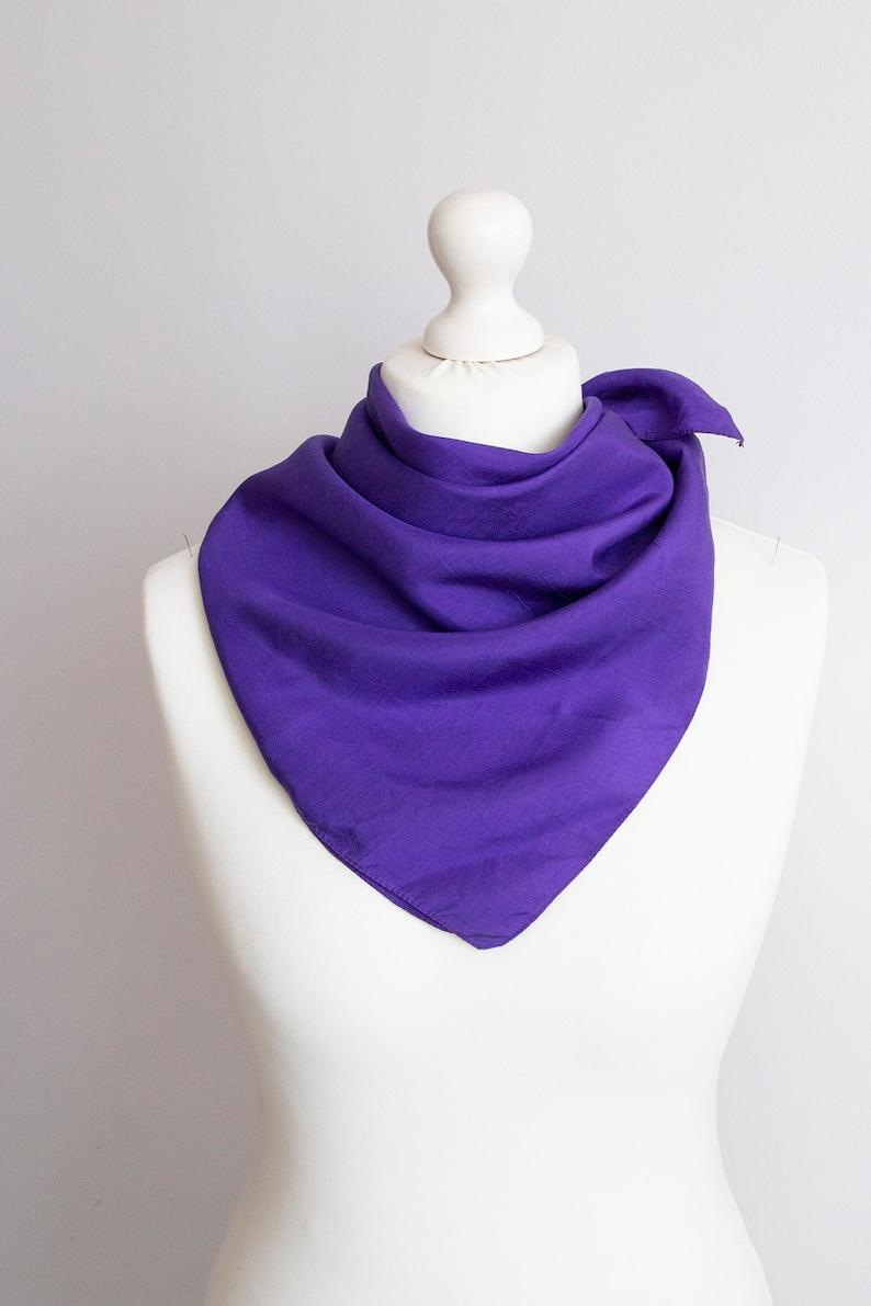 ed06823c5a720 Vintage Square scarf silk scarf plain scarf women scarf | Etsy