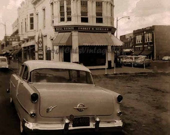 A 1950's  Car in Town - Digital Download