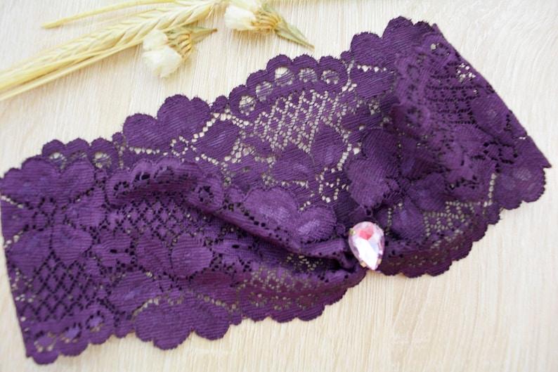 Lace Garter Toss Crystal Accessories Wedding Garter Keep Wedding Garter Purple Lace /& Violet Rhinestone For Brides Purple Garter Belt