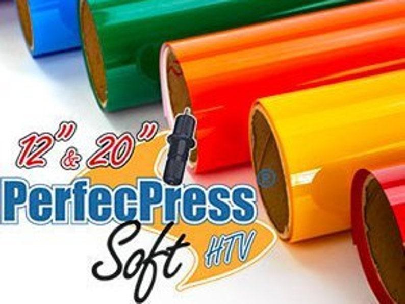 HTV PerfecPress Soft Heat Transfer Vinyl Tshirt Vinyl Iron image 1