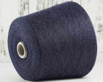 Cashmere/silk yarn on cone, blue on black, on cone, per 100g: WS_SE_5