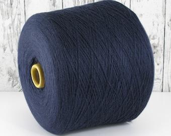 Cashmere/silk (Italy) on cone, dark blue, per 100g: Y001148
