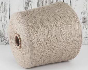 Cashmere/silk (Italy) on cone, grey-beige per 100g: Y001141