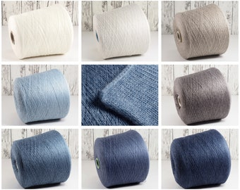 250.00 Euro/kg, baby cashmere yarn on cone, cashmere on cone, italian cashmere yarn, cashmere cone, per 100g