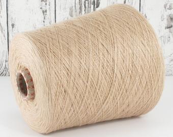 Cashmere/silk (Italy) on cone beige, per 100g: Y001135