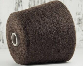 Cashmere/silk yarn on cone, chestnut, on cone, per 100g: WS_SE_6