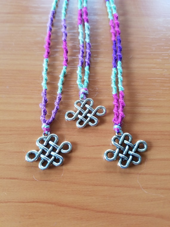 Celtic Knot Friendship Necklaces Set Of 3 Etsy