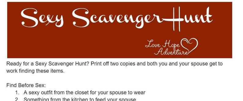 Sexy scavenger hunts