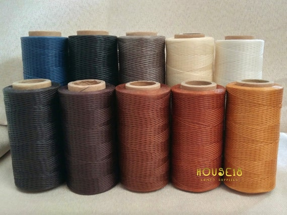 Waxed Polyester Thread For Leather Hand Sewing Leathercraft Etsy Fascinating Polyester Thread For Sewing Machine