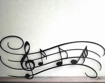 Music Notes Metal Wall Art Musician Gifts Play Musician Wall Art Music Notes Wall Decor Treble Clef Note Art Music Room Wall Art Cutout